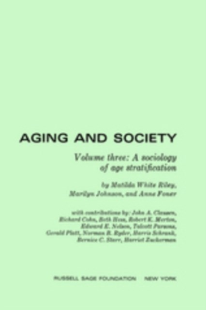Aging and Society, Volume 3