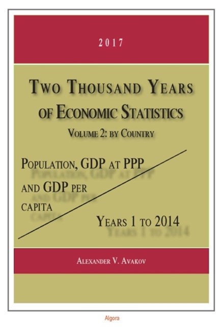 Two Thousand Years of Economic Statistics, Years 1-2014, Vol. 2, by Country