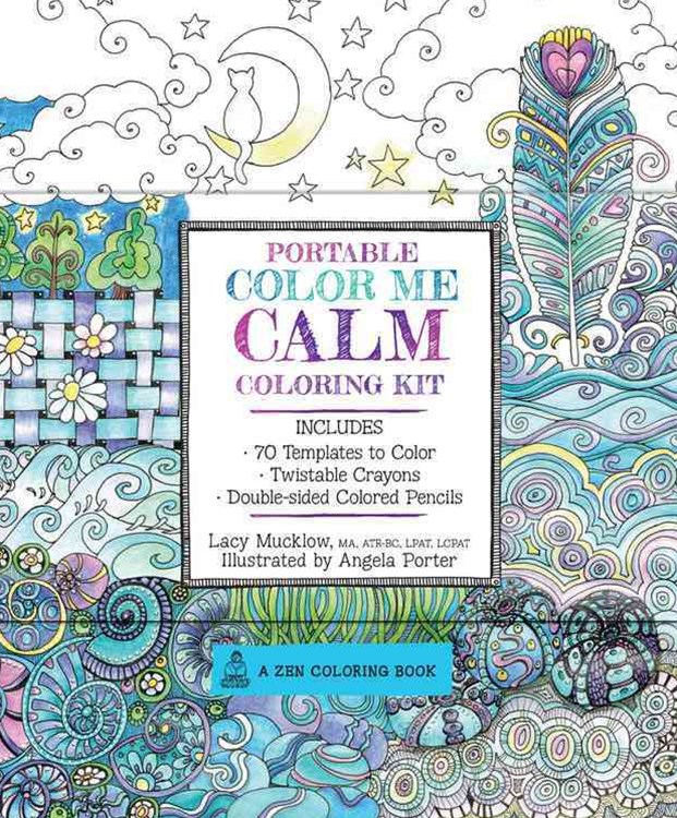 Portable Color Me Calm Coloring Kit