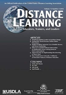 Distance Learning Volume 15 Issue 4 2018 by Michael Simonson, Charles Schlosser, Reggie Smith (9781641136655) - PaperBack - Education