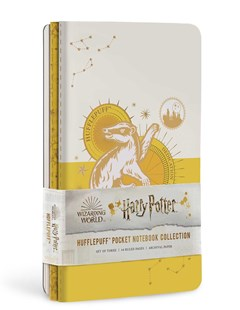 Harry Potter: Hufflepuff Constellation Sewn Pocket Notebook Collection - Notebooks & Journals