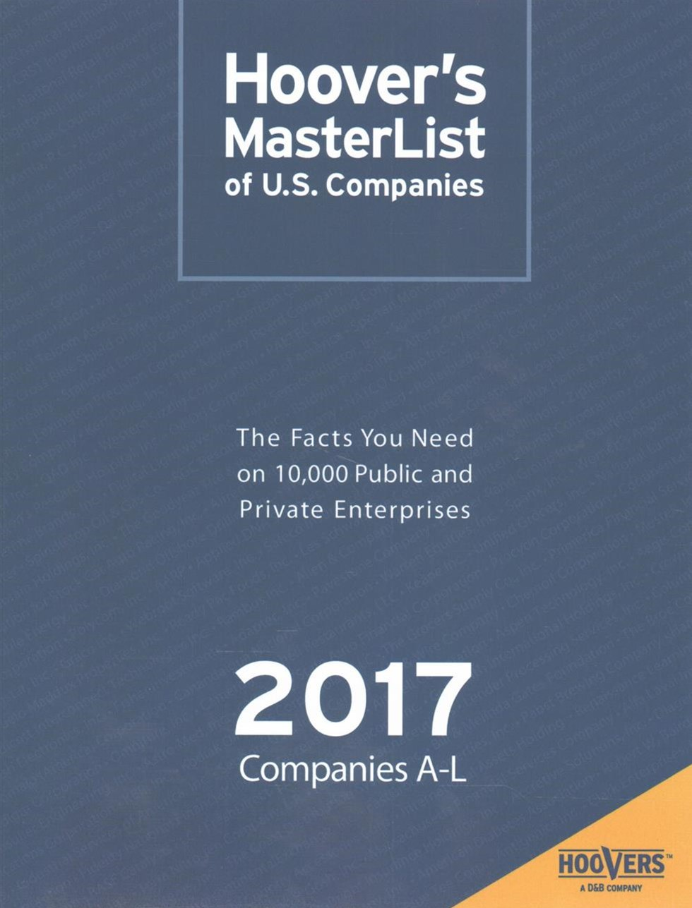 Hoover's Master List of U.S. Companies 2017