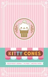 Kitty Cones Hardcover Ruled Pocket Journal