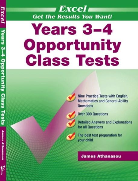 Excel Opportunity Class Tests Years 3–4