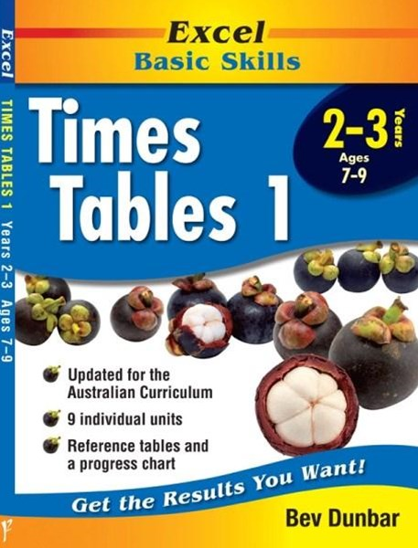 Excel Basic Skills Workbooks: Times Tables 1 Years 2GÇô3