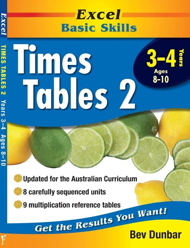 Excel Basic Skills Workbooks: Times Tables 2 Years 3GÇô4