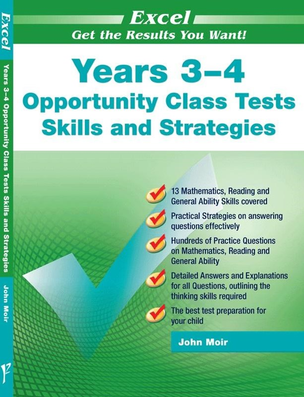 Excel Opportunity Class Tests Skills and Strategies Years 3–4