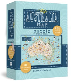 Australia Map Puzzle by  (9781741176704) - Game - Non-Fiction