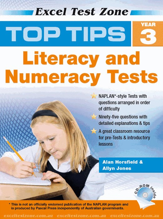 Excel Test Zone Top Tips NAPLAN-style Literacy and Numeracy Test + CD–ROM Year 3