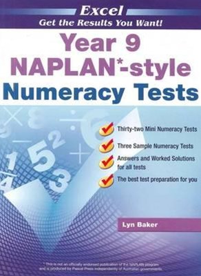 Excel NAPLAN-style Numeracy Tests Year 9