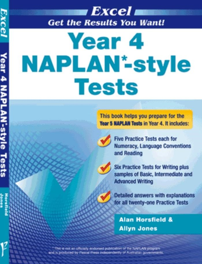 Excel NAPLAN-style Tests Year 4
