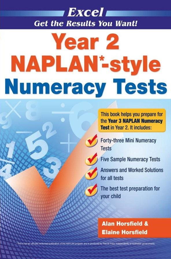 Excel NAPLAN-style Numeracy Tests Year 2
