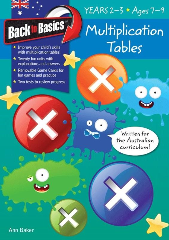 Blake's Back to Basics – Multiplication Tables book 1 Years 2–3