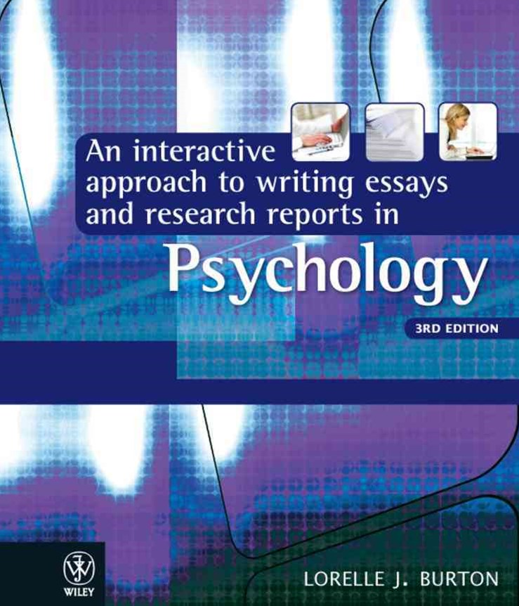 Interactive Approach to Writing Essays and Research Reports in Psychology 3E