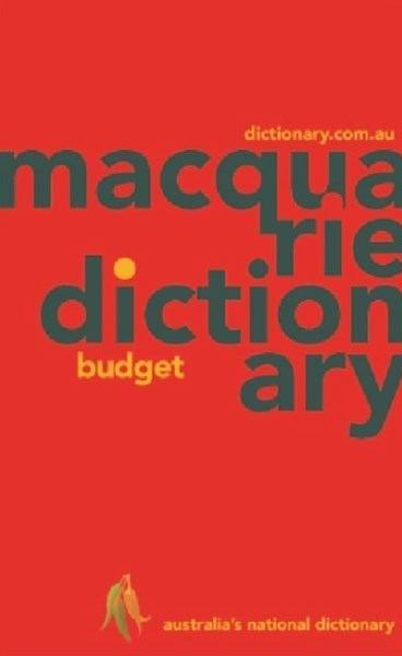 Macquarie Budget Dictionary (PVC)