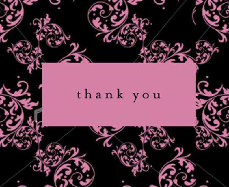Thank You Cd Pink & Black Flou