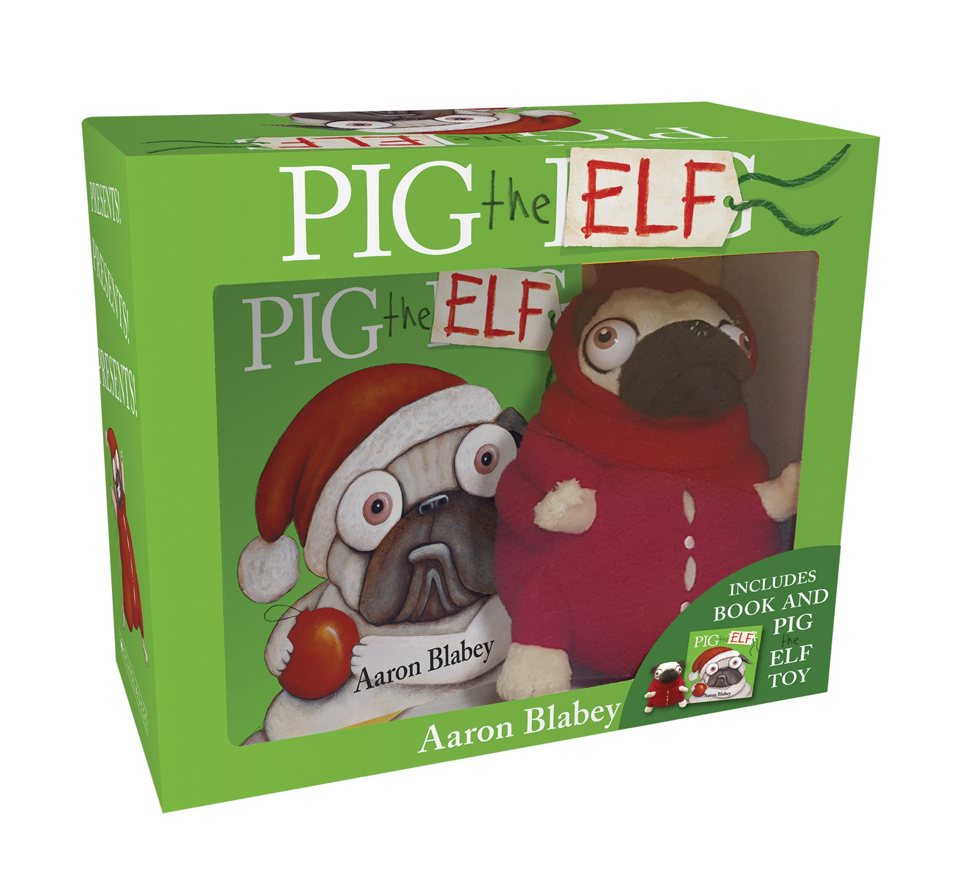 Pig the Elf Mini Book + Plush