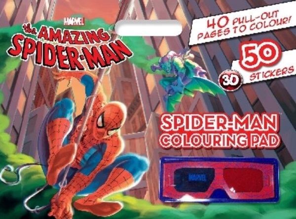 Amazing Spiderman Colouring Pad 3D