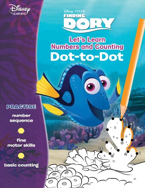 Disney Learning Finding Dory: Let's Learn Numbers and Counting Dot-to-Dot