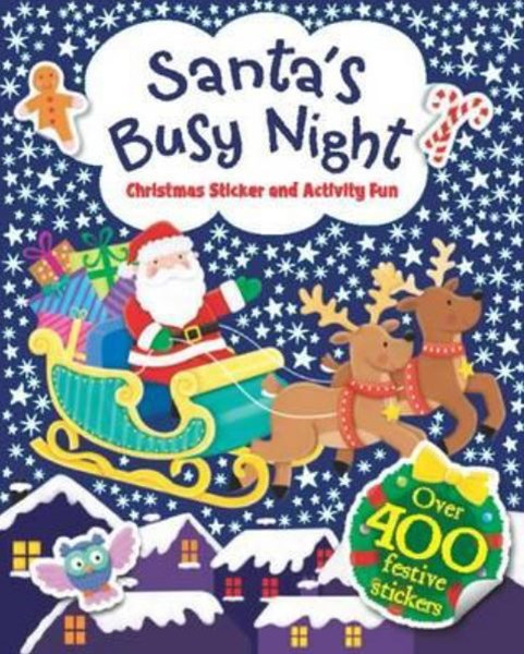 Santa's Busy Night Sticker and Activity Fun