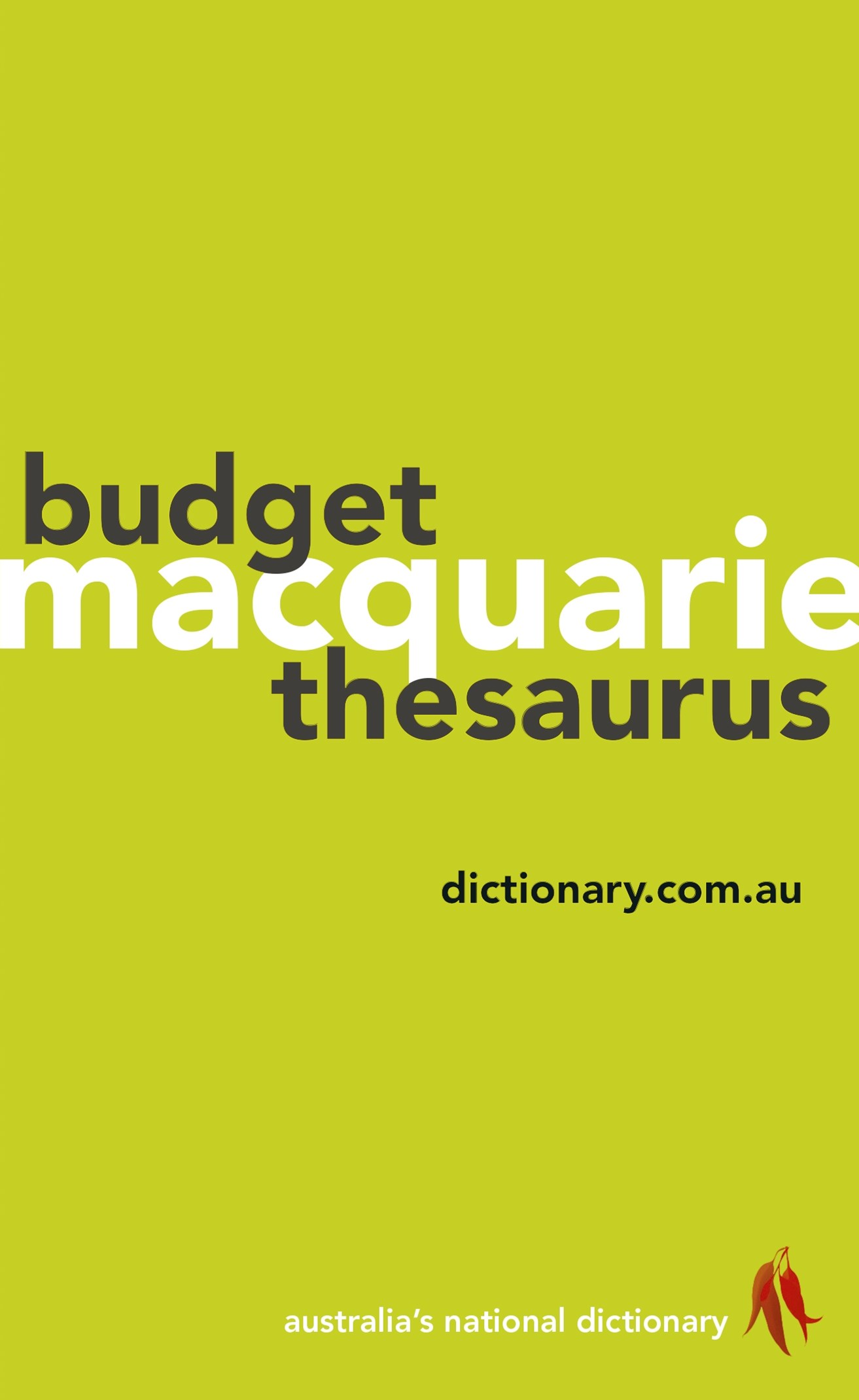 Macquarie Budget Thesaurus