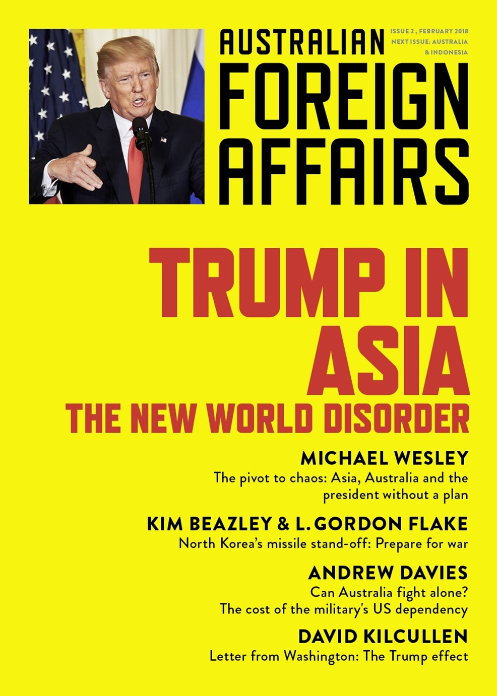 Trump in Asia: The New World Disorder: Australian Foreign Affairs: Issue 2