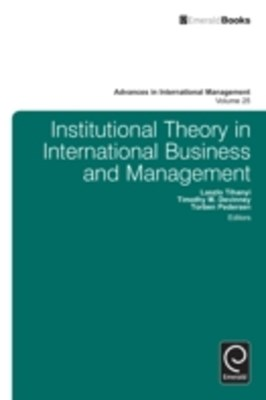 Institutional Theory in International Business