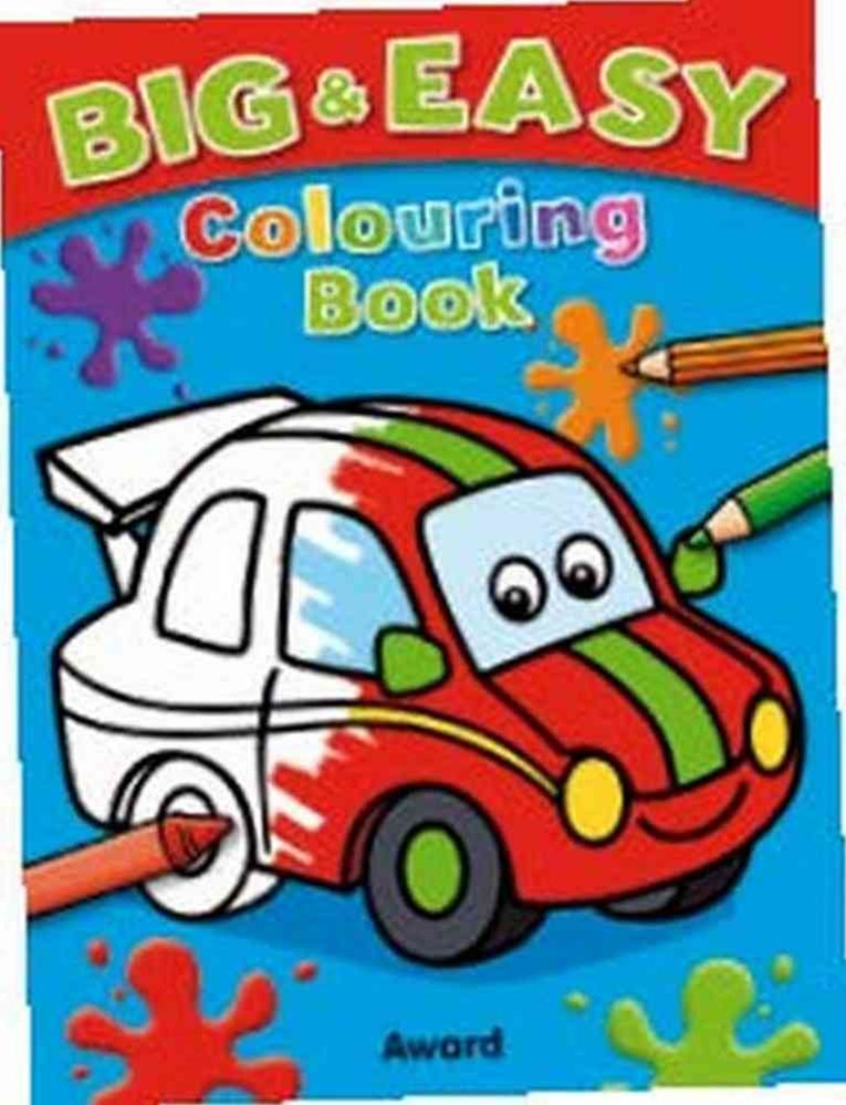 Big and Easy Colouring Book (Car)