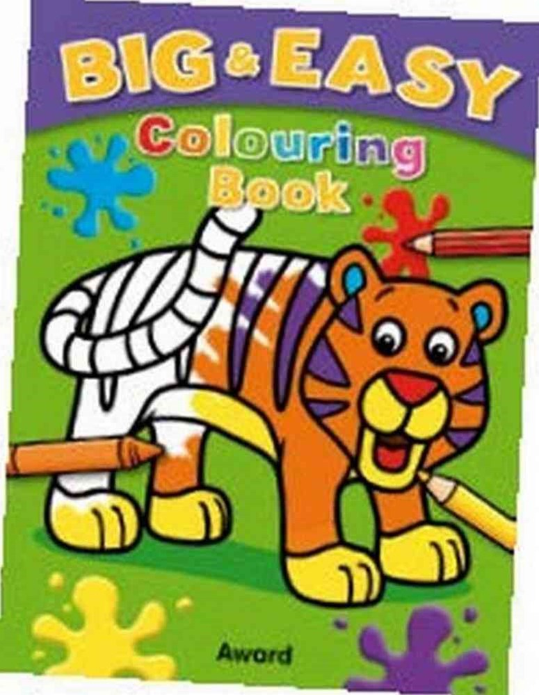 Big and Easy Colouring Book (Tiger)