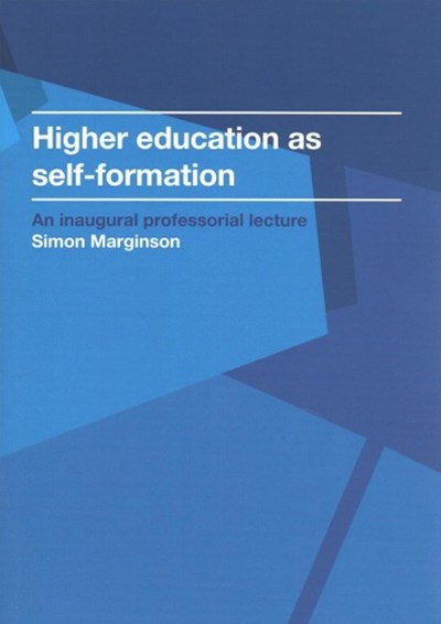 Higher Education As Self-formation