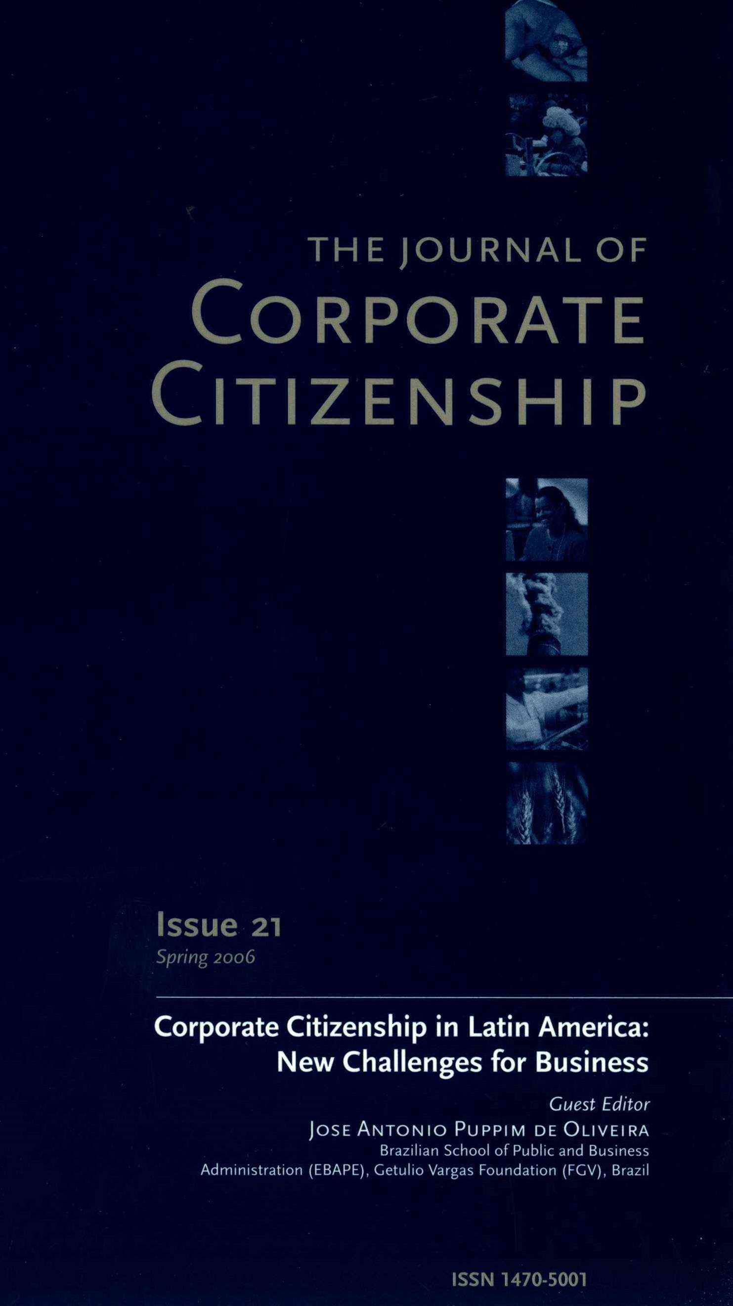 The Journal of Corporate Citizenship