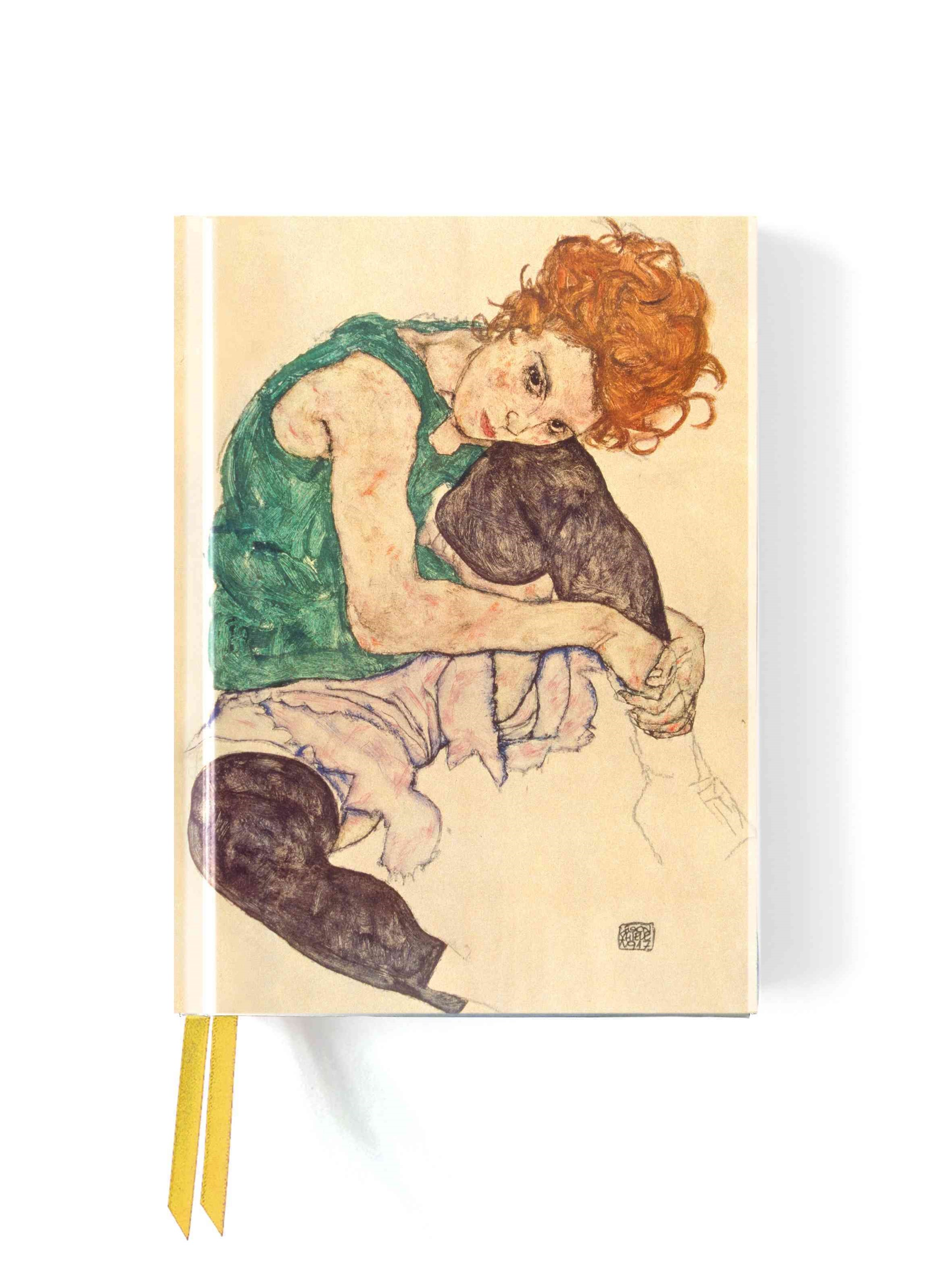 Foiled Journal #95: Seated Woman Egon Schiele