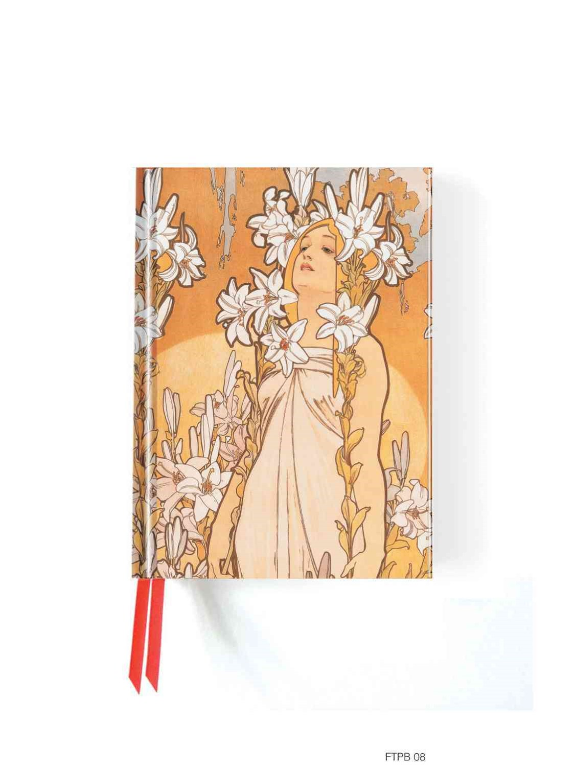 Foiled Pocket Journal #8: Alphonse Mucha The Flowers, Lily
