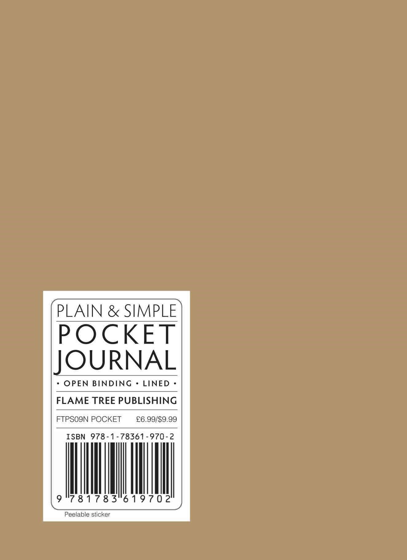 Plain and Simple Journal Pocket Natural