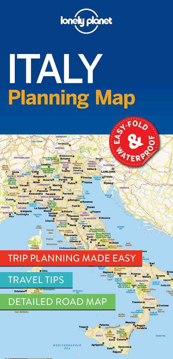 Lonely Planet Italy Planning Map