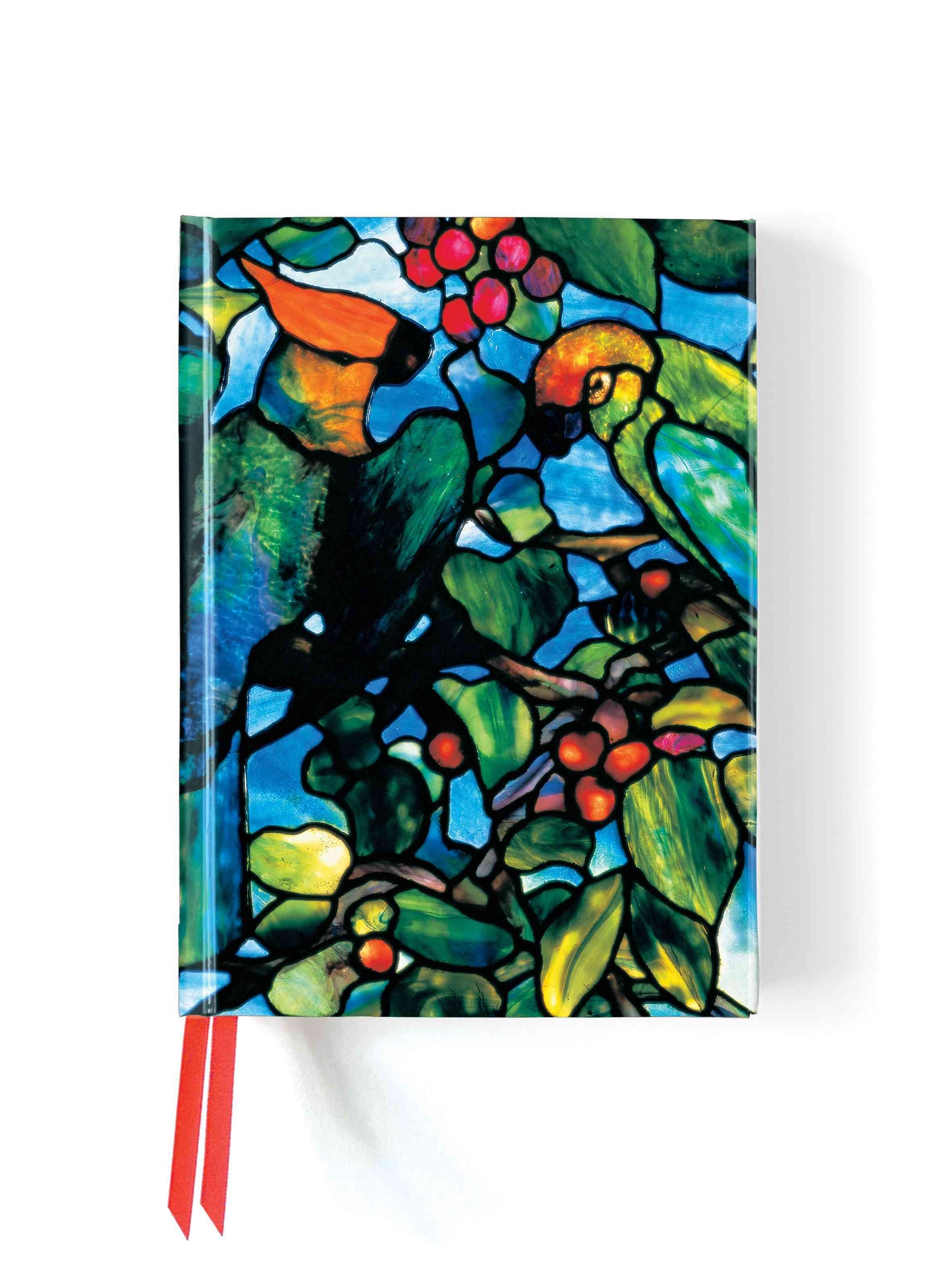 Foiled Journal#103  Tiffany Parrots Transom