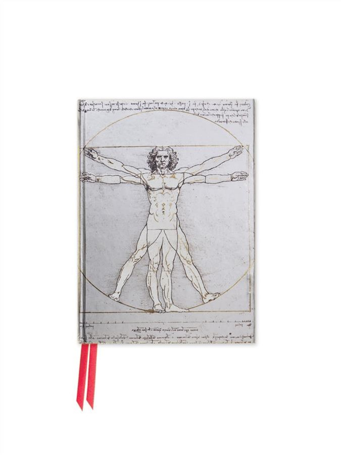 Foiled Pocket Journal #54 Leonardo Da Vinci: Viruvian Man