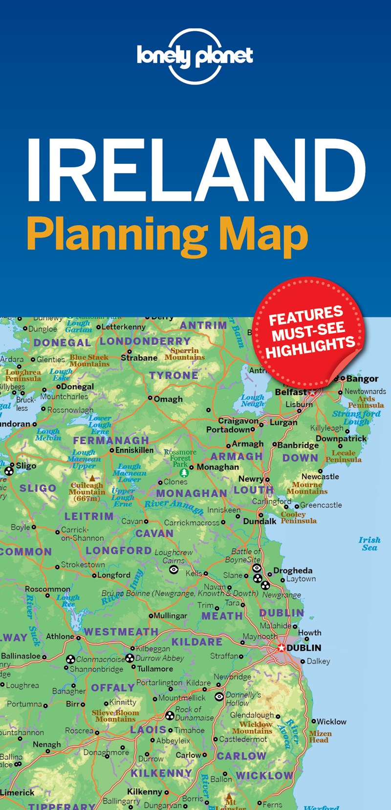 New Ireland Planning Map By Lonely Planet 9781787014541 Ebay