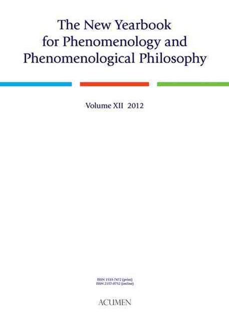 The New Yearbook for Phenomenology and Phenomenological Philosophy 2012