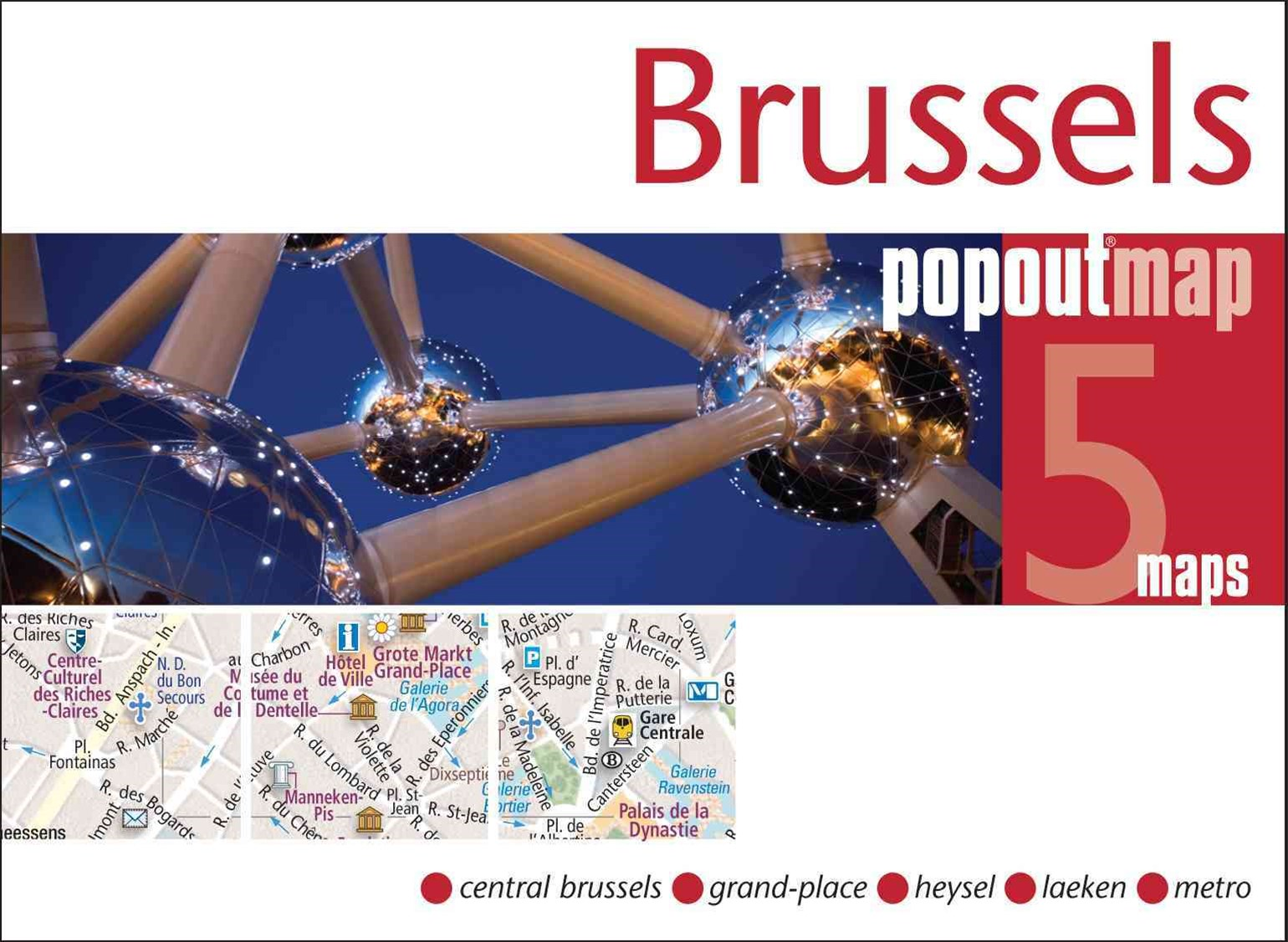 Brussels Popout Map 3/e