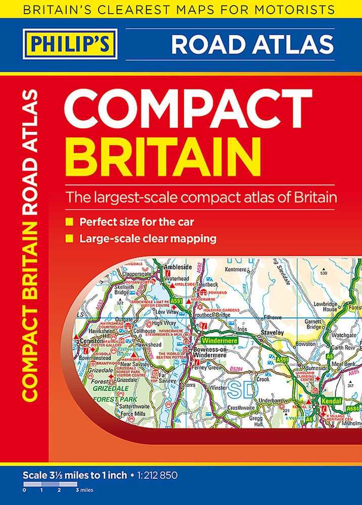 Philip's Compact Britain Road Atlas