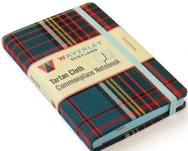 Waverley (M): Anderson Tartan Cloth Commonplace Notebook