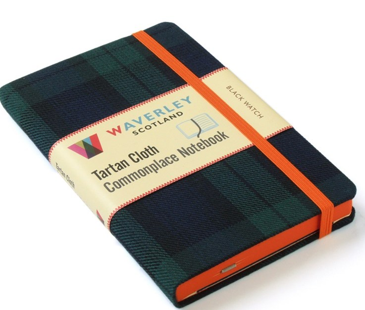 Waverley (M): Black Watch Tartan Cloth Commonplace Notebook
