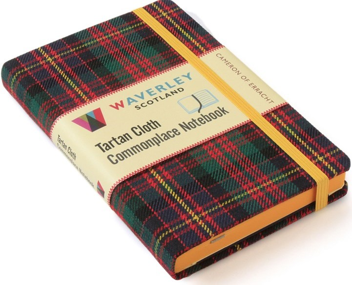 Waverley (M): Cameron of Erracht Tartan Cloth Commonplace Notebook