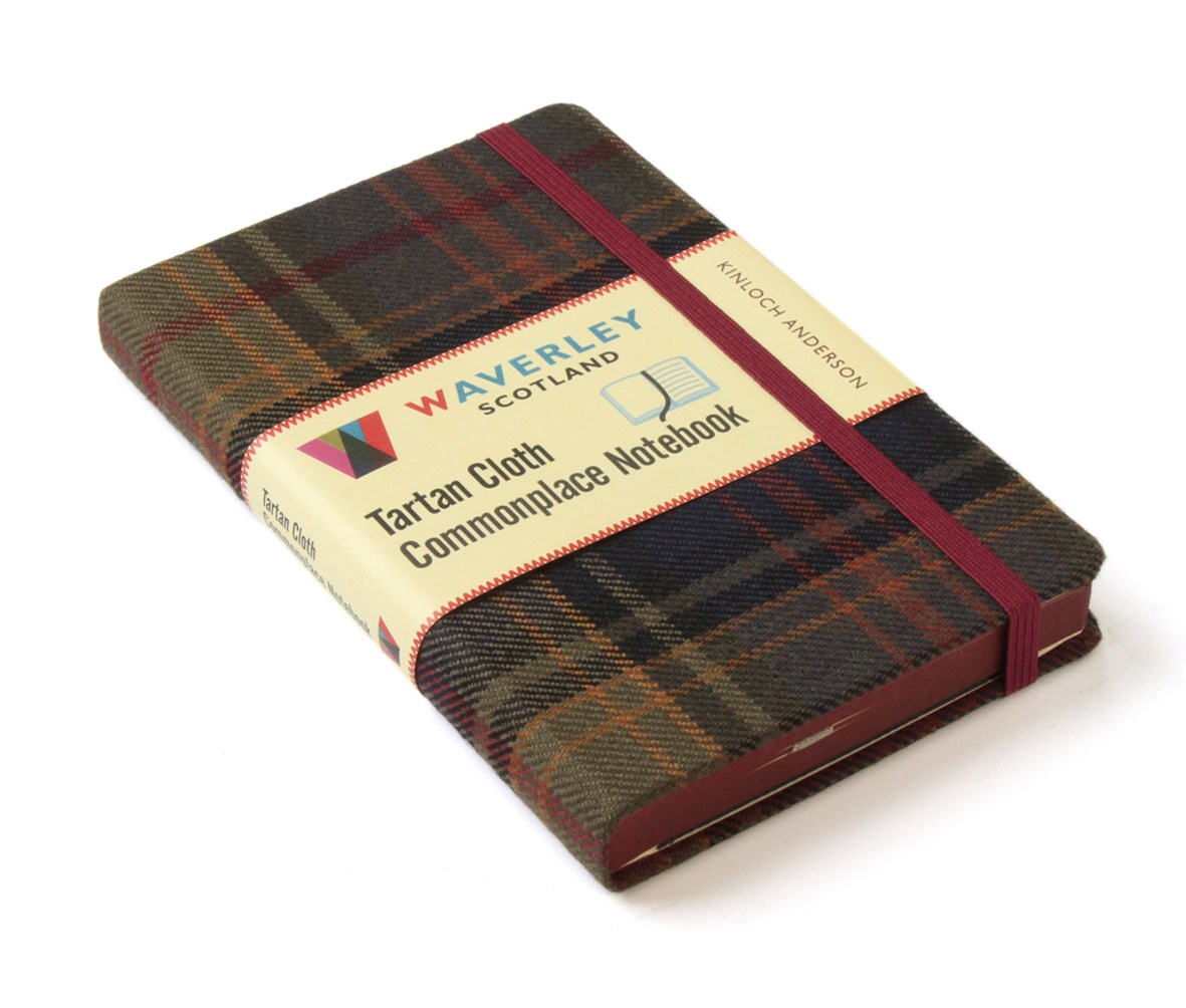 Waverley (M): Kinloch Anderson Tartan Cloth Pocket Commonplace Notebook
