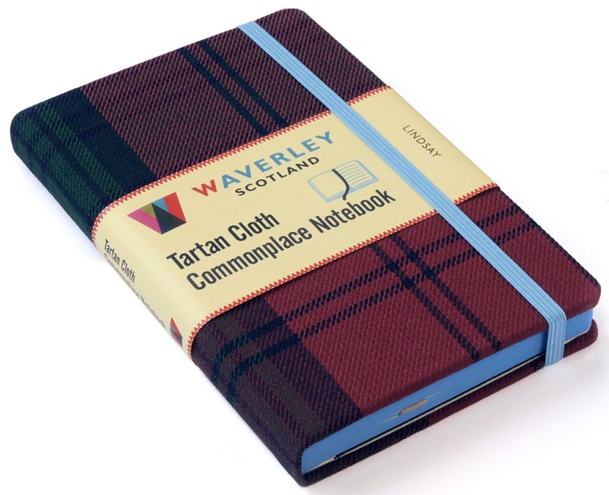 Waverley (M): Lindsay Tartan Cloth Pocket Commonplace Notebook