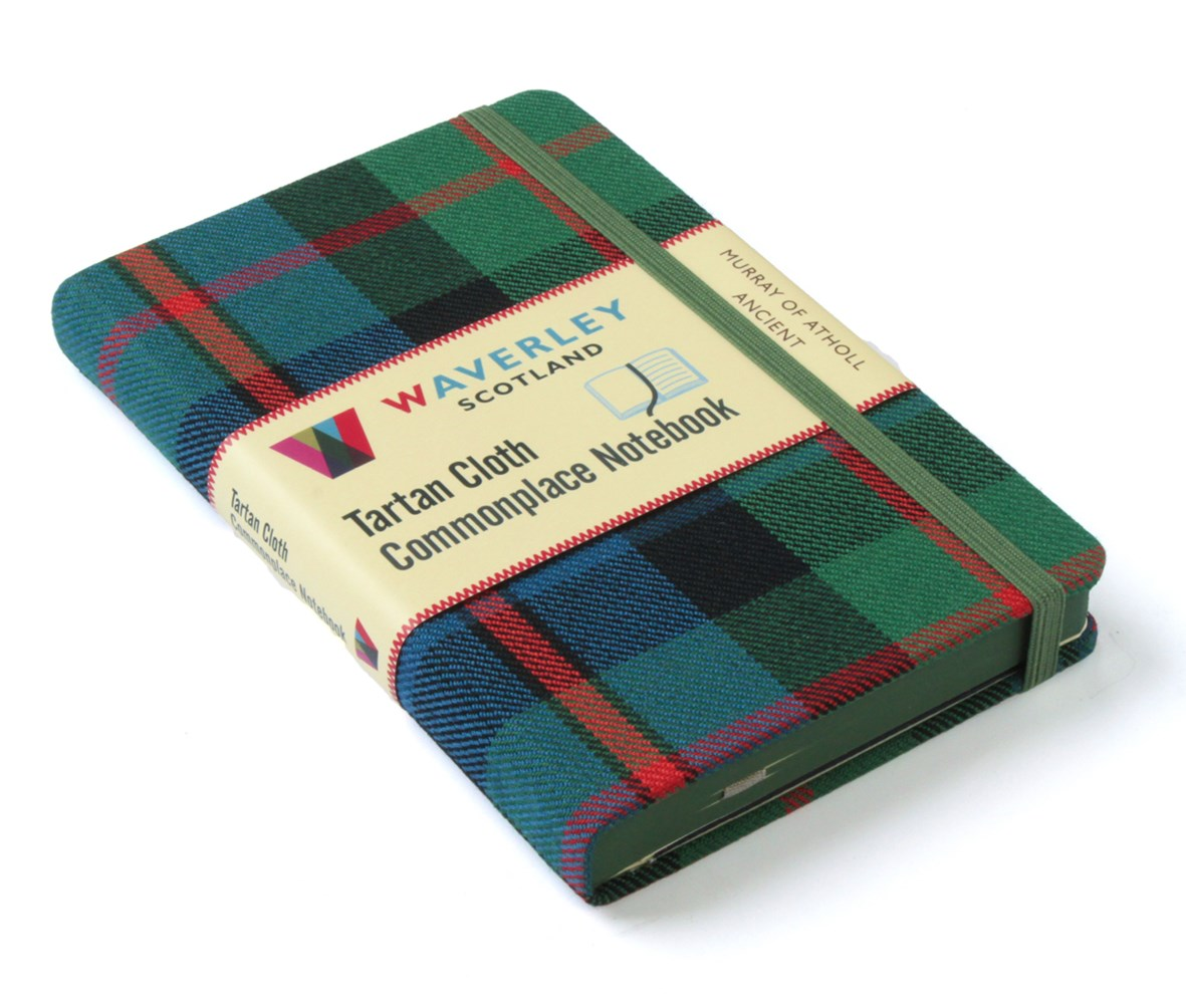 Waverley (M): Murray of Atholl AncientTartan Cloth Pocket Commonplace Notebook