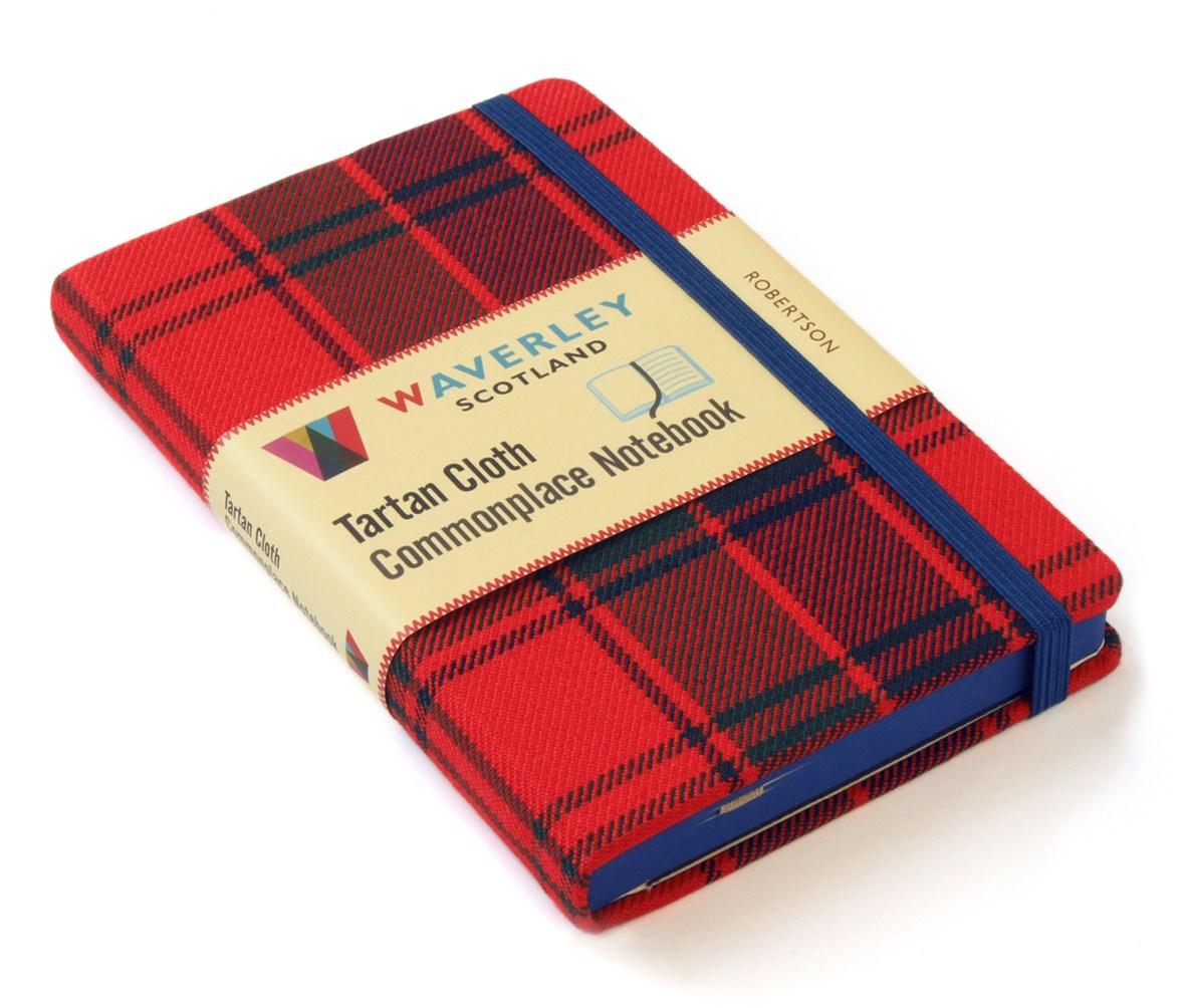 Waverley (M): Robertson Tartan Cloth Commonplace Pocket Notebook
