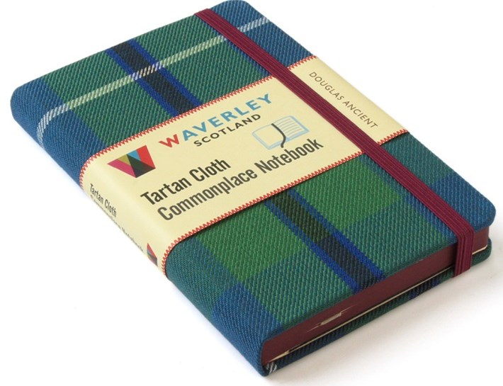 Waverley (M): Douglas Ancient Tartan Cloth Commonplace Notebook