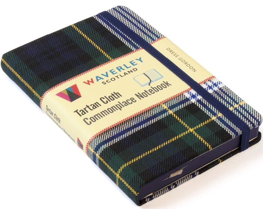 Waverley (M): Dress Gordon Tartan Cloth Commonplace Notebook